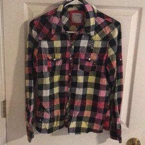 Girls Justice Flannel shirt